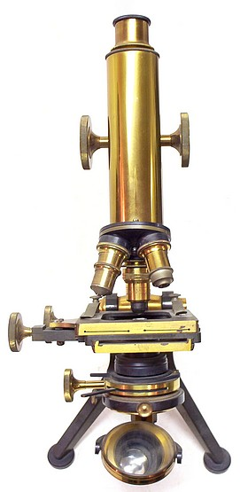 tW. Watson & Sons Ltd, 313 High Holborn, London #11787. The Edinburgh Student microscope Model H. c. 1909ext