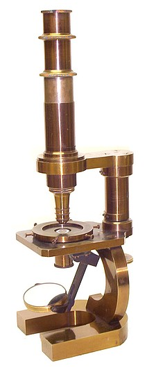 Carl Zeiss Jena 1351 / 2259. c. 1874. Stativ I. Microscope with polarizing attachments including a rotating stage