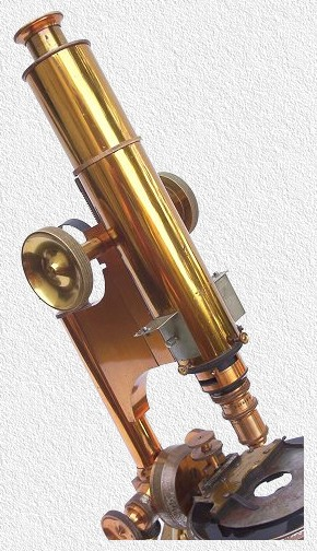 The  Professional microscope with petrological tube