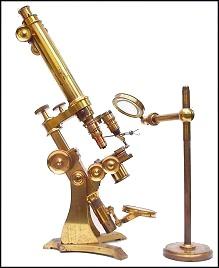 binocular microscope, Charles G. Ewing San Francisco c. 1870