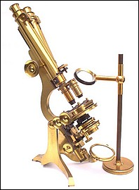 Wenham binocular microscope: Watson and Son 313 High Holborn London #912, The Jackson No. 2 Model, c. 1880