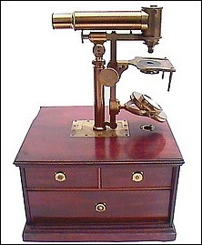 Horizontal microscope: Made for Widdifield and Co., Boston. c. 1845